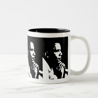 Barack Obama Black & White Profile Cup Mug