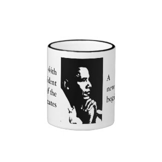 Barack Obama Black & White Profile Cup Coffee Mugs