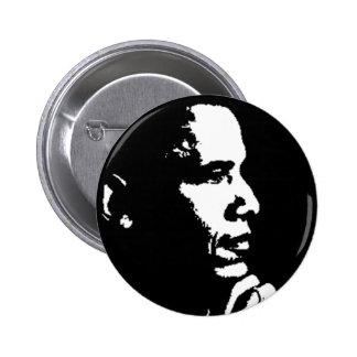 Barack Obama Black & White Profile Pinback Buttons