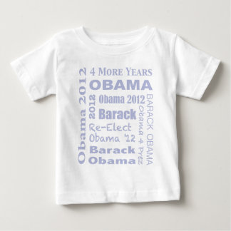Barack Obama Block in Blue Baby T-Shirt