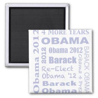 Barack Obama Block in Blue Magnet