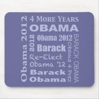 Barack Obama Block in Blue Mouse Pad