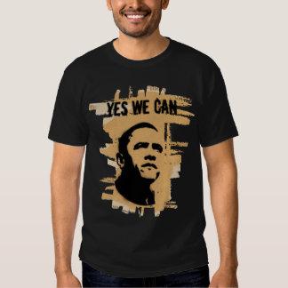 Barack Obama (Both sides) Stencil Cardboard Tee Shirts