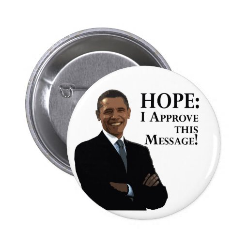 Barack Obama: Botón de la esperanza Pin Redondo De 2 Pulgadas