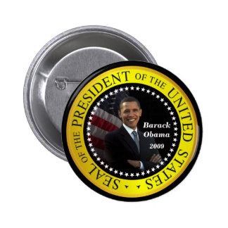 Barack Obama - botón presidencial del sello Pins