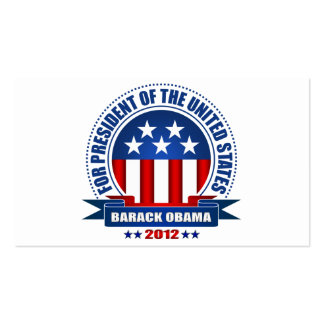 Barack Obama Double-Sided Standard Business Cards (Pack Of 100)