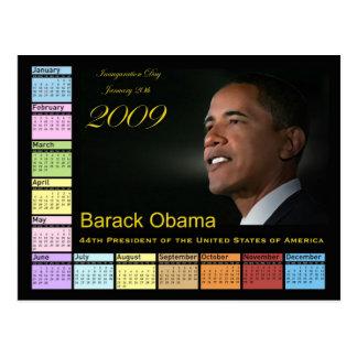 Barack Obama Calendar Postcard