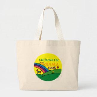 Barack Obama California Rainbow Large Tote Bag