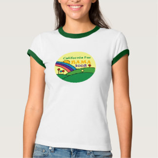 Barack Obama California Rainbow T-Shirt
