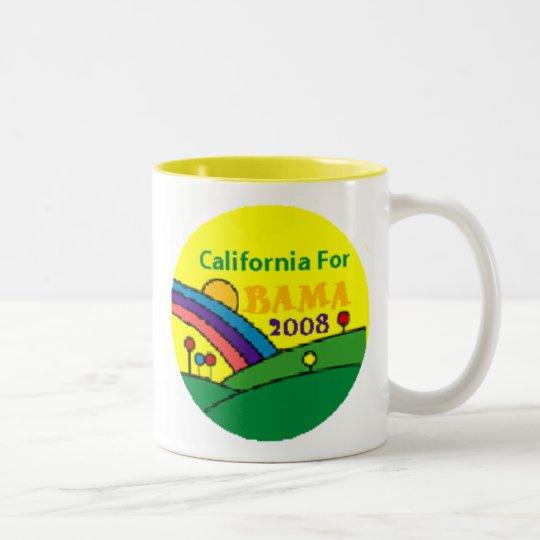 Barack Obama California Rainbow Two-Tone Coffee Mug