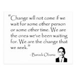 Barack Obama - CAMBIE la mercancía Postal