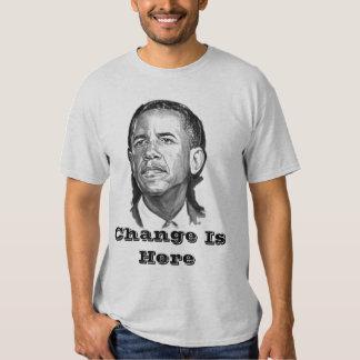 Barack Obama, cambio está aquí Poleras