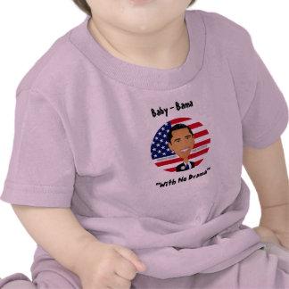 Barack Obama - camisa bebé - Bama sin drama