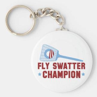 Barack Obama: Campeón del Swatter de mosca Llaveros Personalizados