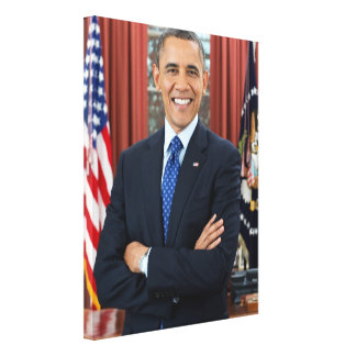 Barack Obama Gallery Wrapped Canvas