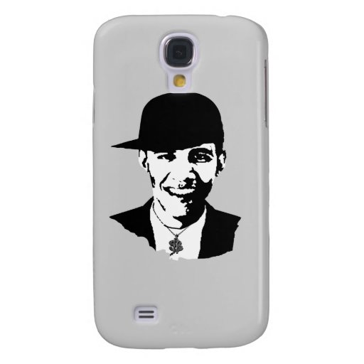 BARACK OBAMA CAP AND BLING -.png Samsung Galaxy S4 Case