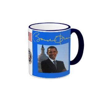 Barack Obama  Celebration Ringer Coffee Mug