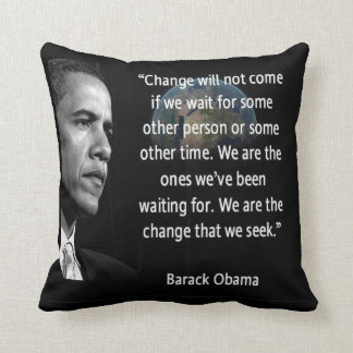 "Barack Obama ""Change"" American MoJo Pillow"