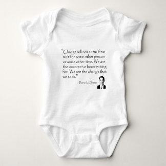 Barack Obama - CHANGE merchandise Baby Bodysuit