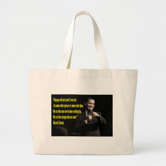 Barack Obama Change quote Tote Bags