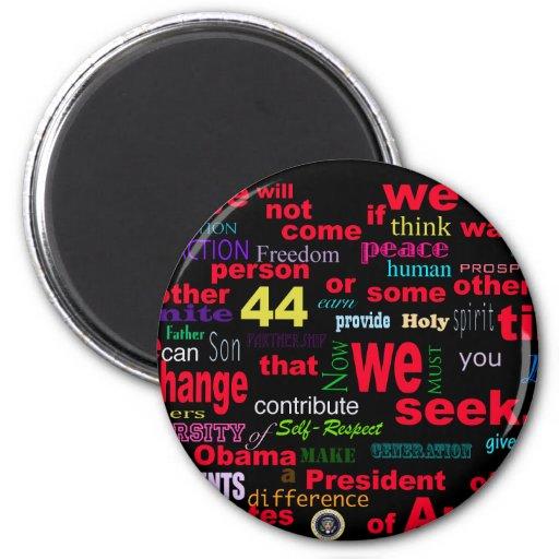 Barack Obama Change quote Fridge Magnets