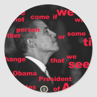 Barack Obama Change quote Stickers