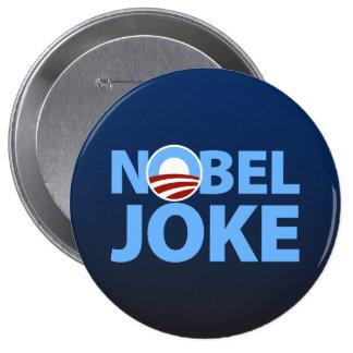 Barack Obama: Chiste Nobel Pin Redondo 10 Cm