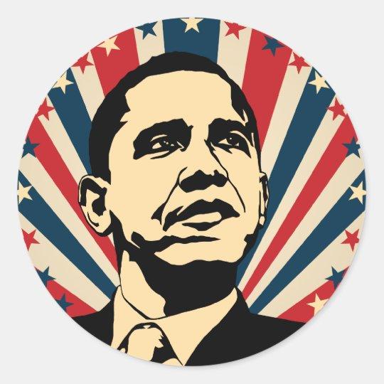 Barack Obama Classic Round Sticker