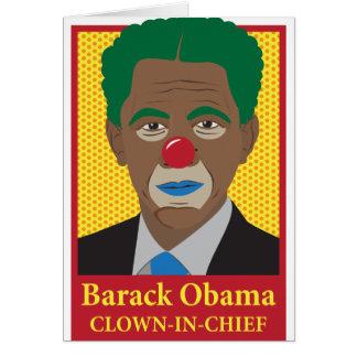 Barack Obama Clown Cards