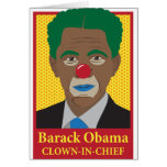 Barack Obama Clown Greeting Card