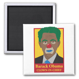 Barack Obama Clown 2 Inch Square Magnet