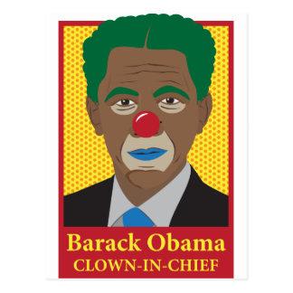 Barack Obama Clown Postcard
