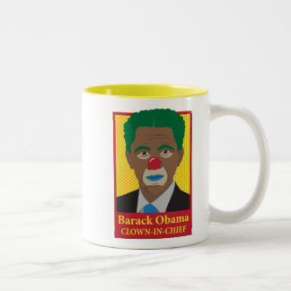 Barack Obama Clown Two-Tone Coffee Mug