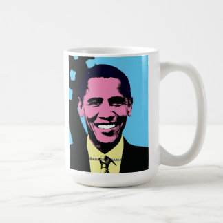 Barack Obama con estilo del arte pop de Andy Warho Tazas