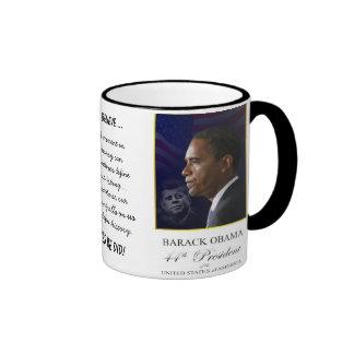 Barack Obama con Jack Kennedy - taza del campanero