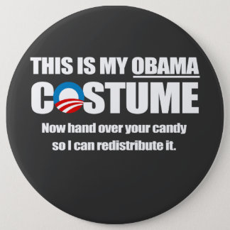 Barack Obama Costume Button