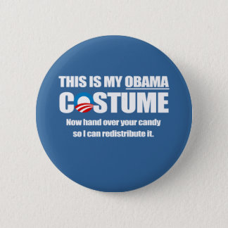 Barack Obama Costume Pinback Button