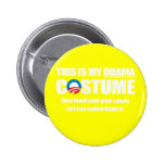 Barack Obama Costume Pinback Button