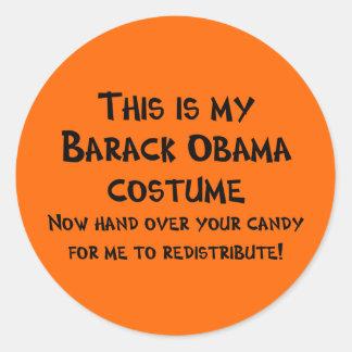 Barack Obama Costume Classic Round Sticker