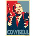 Barack Obama - Cowbell: OHP Poster print