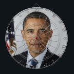 """Barack Obama Dartboard<br><div class=""""desc"""">Barack Obama Dartboard by Dixie Livin&#39;</div>"""
