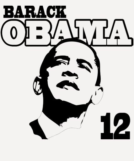 Barack Obama de 'camisa retra 12 señoras Playeras