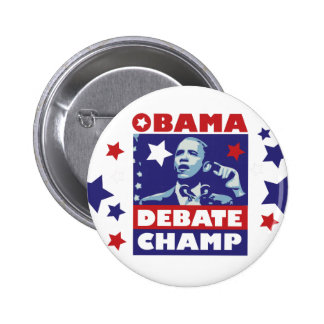 Barack Obama Debate Champion Pinback Button