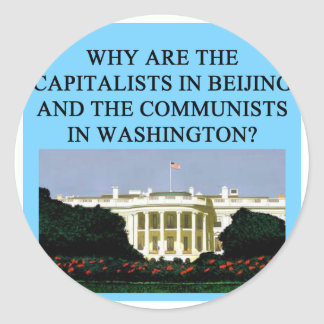 barack obama democratic socialist classic round sticker