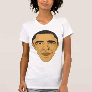 Barack Obama Digital Face Illustration Tee