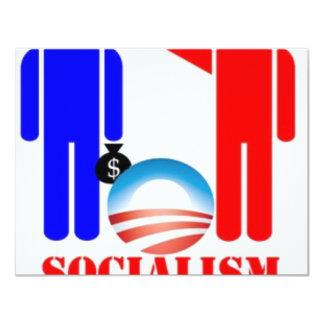 """Barack Obama el socialista Invitación 4.25"""" X 5.5"""""""