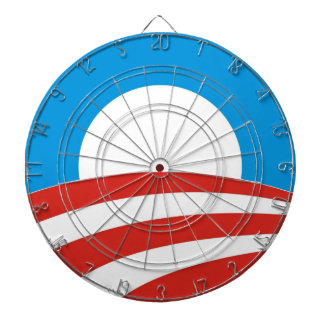 barack obama electoral sign dart board