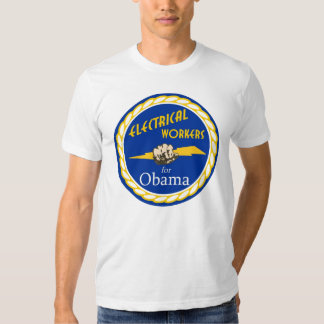 Barack Obama - Electrical Workers For Obama T Shirt