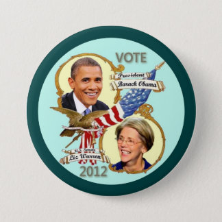 Barack Obama & Elizabeth Warren 2012 Button