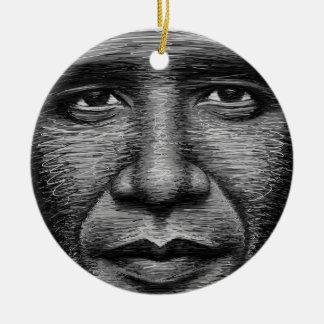 Barack Obama en algunas líneas Adornos De Navidad